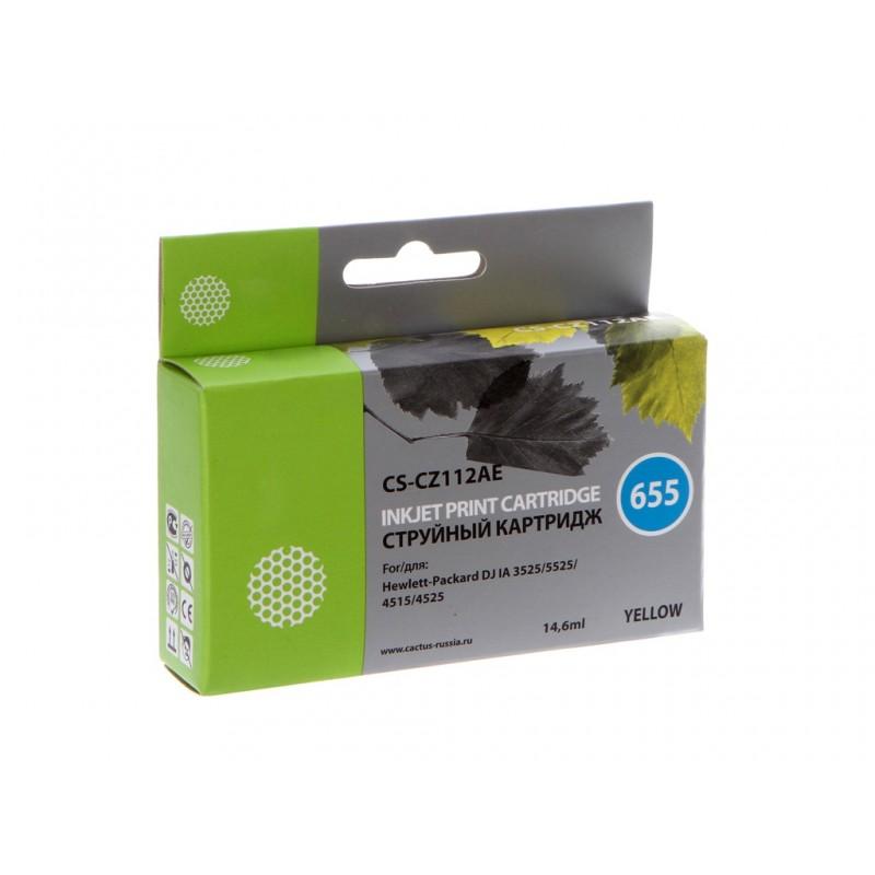 Картридж Cactus №655 для DJ IA 3525/5525/4515/4525 Yellow