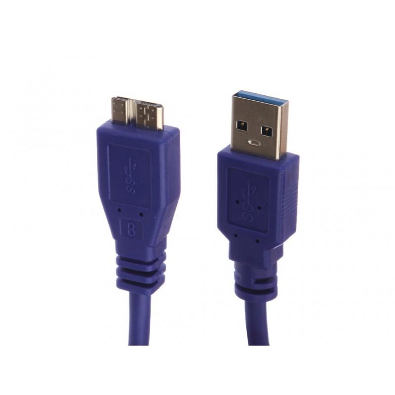 Аксессуар Gembird Cablexpert Pro USB 3.0 AM/microBM 9P 50cm Blue CCP-mUSB3-AMBM-0.5M