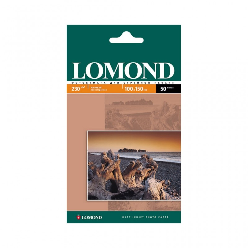 Фотобумага Lomond 100x150mm 230g/m2 матовая одностороняя 0102034