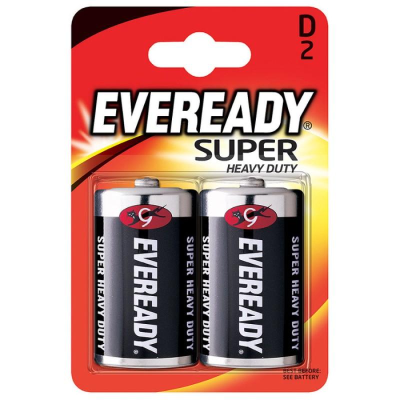 Батарейка D - Energizer Eveready Super R20 Ni-MH (2 штуки) E301155800 / 11645