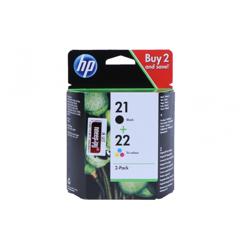 Картридж HP 21/22 SD367AE Black/Tri-color