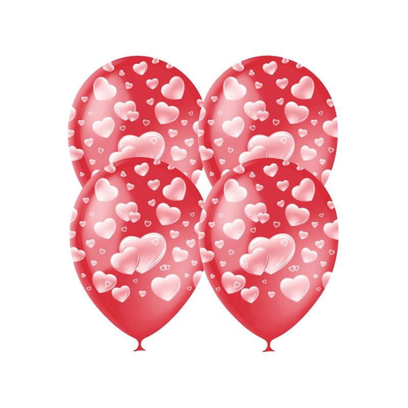 Набор воздушных шаров Поиск Cherry Red Сердца 30cm 25шт 4690296040932