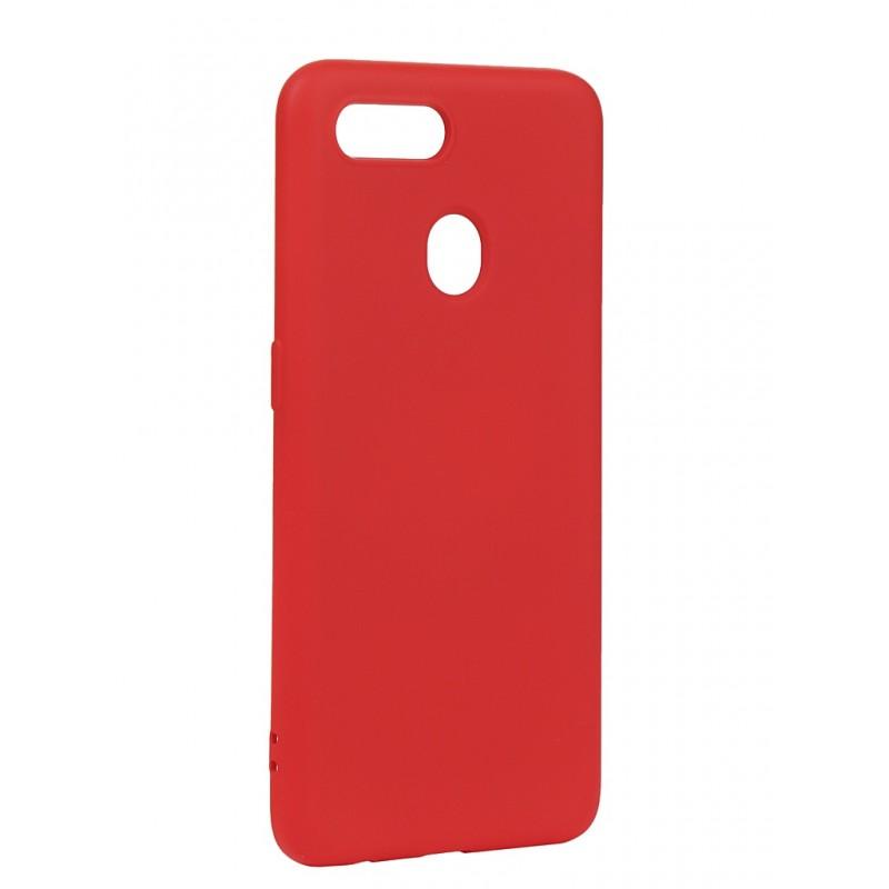 Чехол с микрофиброй DF для Oppo A5s Silicone Red oOriginal-06