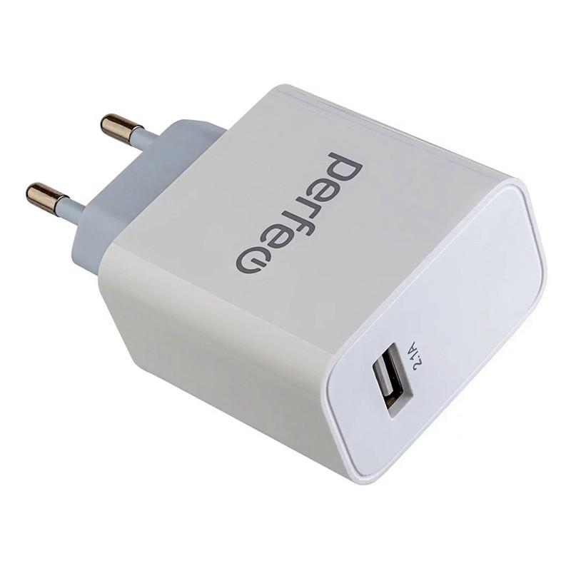 Зарядное устройство Perfeo USB 2.1А White I4643