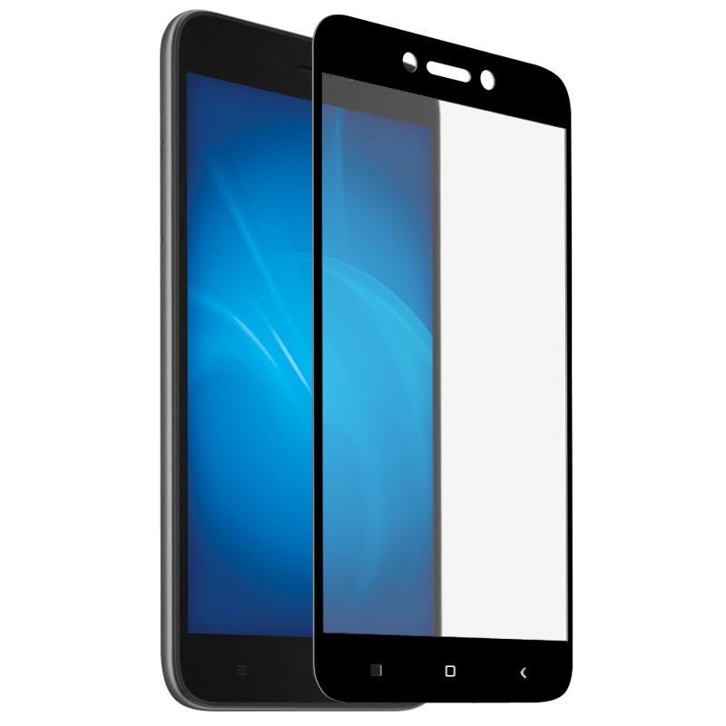 Закаленное стекло DF для Xiaomi Redmi Go Full Screen + Full Glue xiColor-51 Black