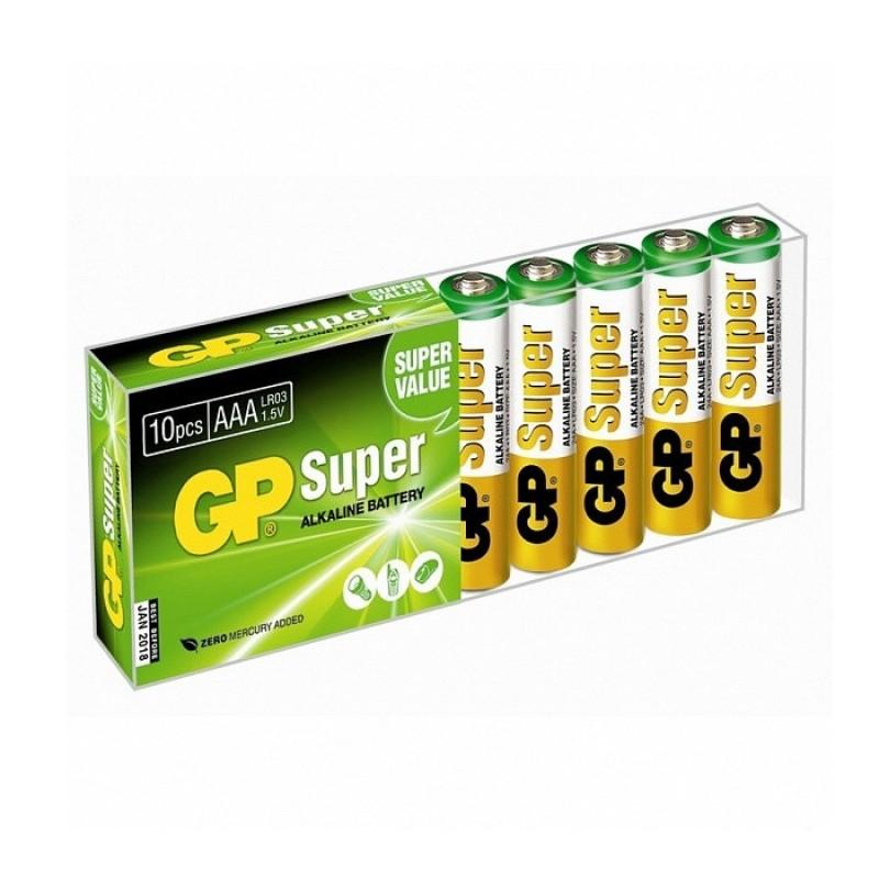 Батарейка AAA - GP Super Alkaline LR03 24A GP24A-B10 (10 штук)
