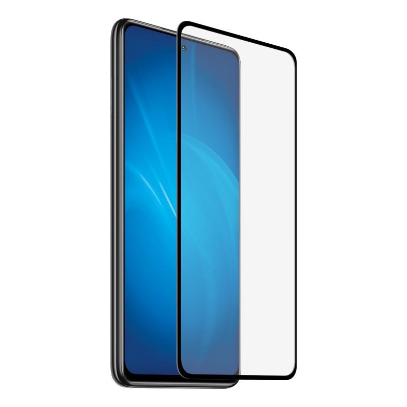 Закаленное стекло DF для Xiaomi Redmi Note 10 5G / Poco M3 Pro Full Screen + Full Glue Black Frame xiColor-89