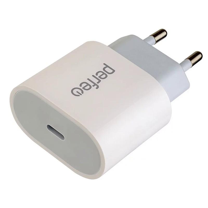 Зарядное устройство Perfeo USB Type-C White I4635