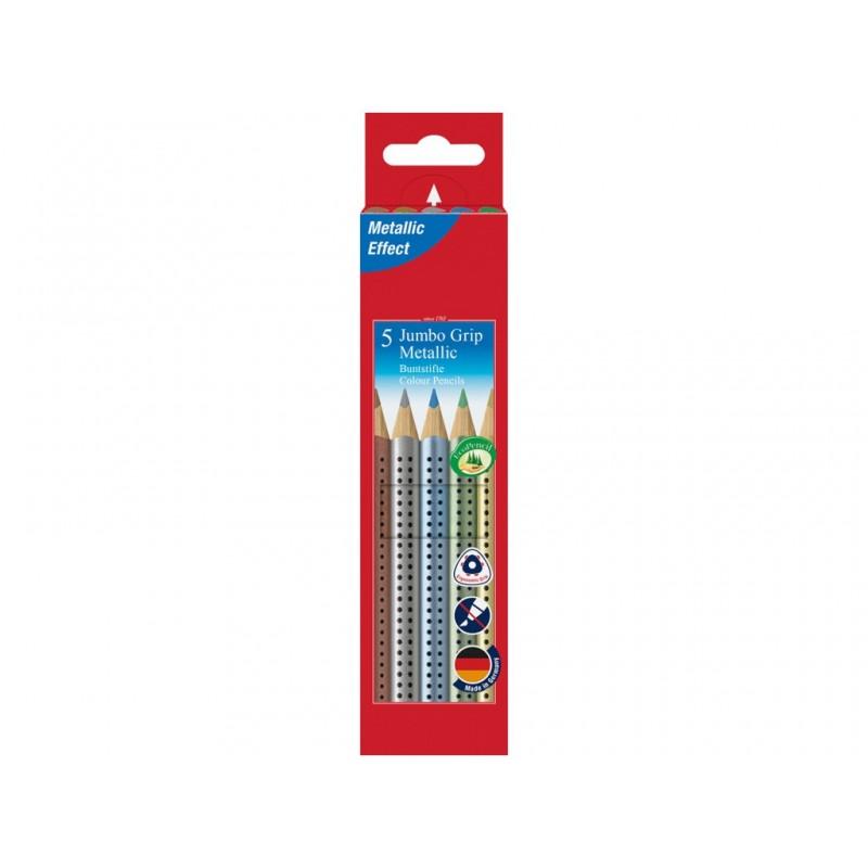 Карандаши цветные Faber-Castell Jumbo Grip Metallic 5 цветов 110993