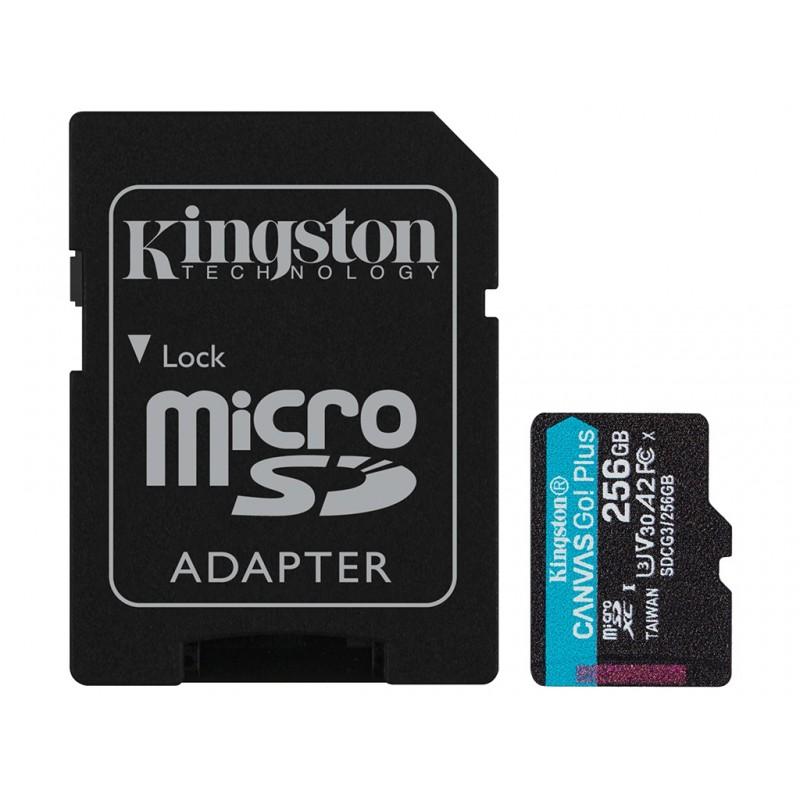 Карта памяти 256Gb - Kingston Canvas Go! Micro Secure Digital HC Class10 UHS-I Canvas Select + SD Adapter SDCG3/256GB с переходником под SD