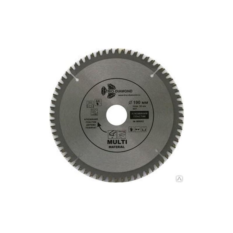 Диск Trio Diamond MM902 пильный по мультиматериалам 190x30/20mm 64 зуба