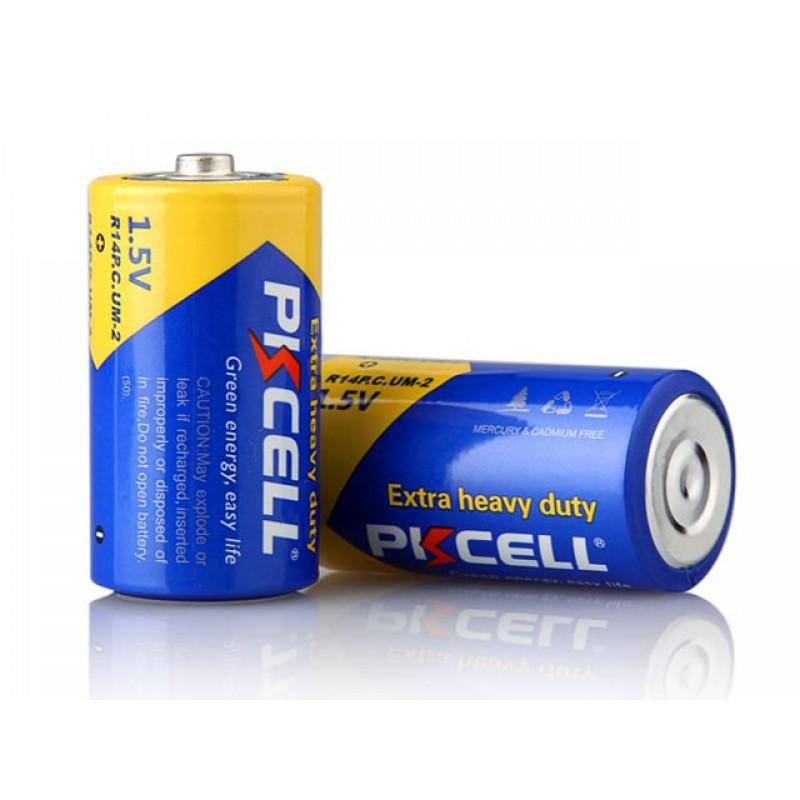 Батарейка C - Pkcell R14P-2S (2 штуки)