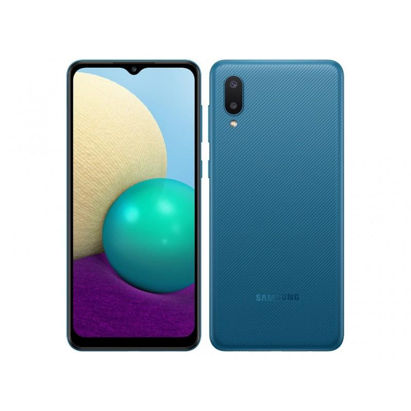 Сотовый телефон Samsung SM-A022GZ Galaxy A02 2/32Gb Blue & Wireless Headphones Выгодный набор + серт. 200Р!!!