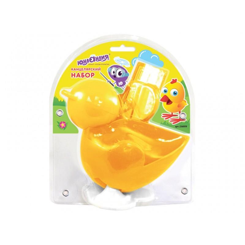 Канцелярский набор Юнландия Цыпленок Yellow 236959