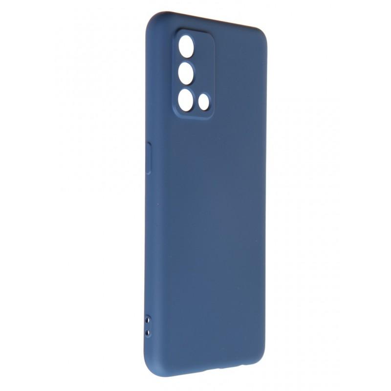 Чехол DF для Oppo A74 4G с микрофиброй Silicone Blue oOriginal-13