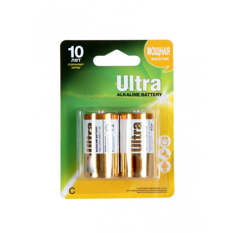 Батарейка C - GP Ultra Alkaline GP14AU-2UE2 LR14 BL2 (2 штуки)