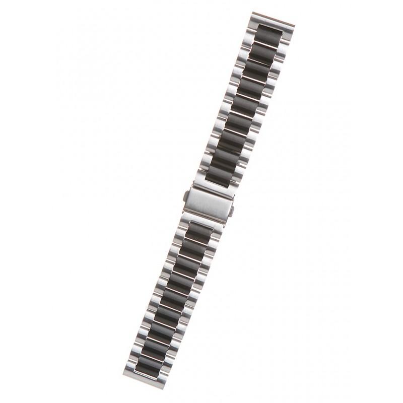 Аксессуар Универсальный ремешок Red Line 20mm Metal Silver-Black УТ000022767