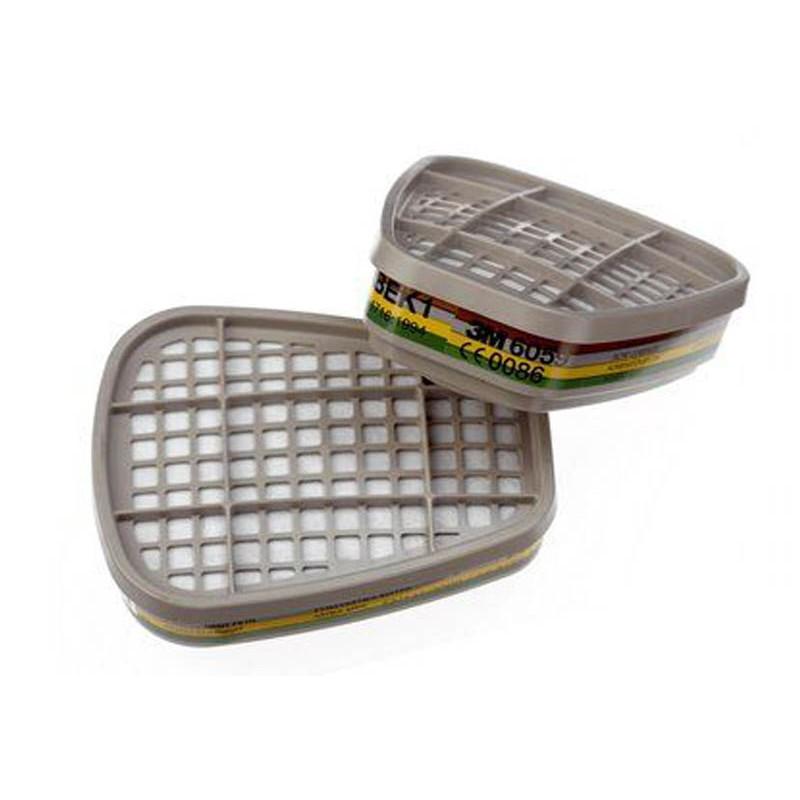 Фильтр для защиты от газов и паров 3M 6059 степень защиты ABEK1 2шт 7000034747