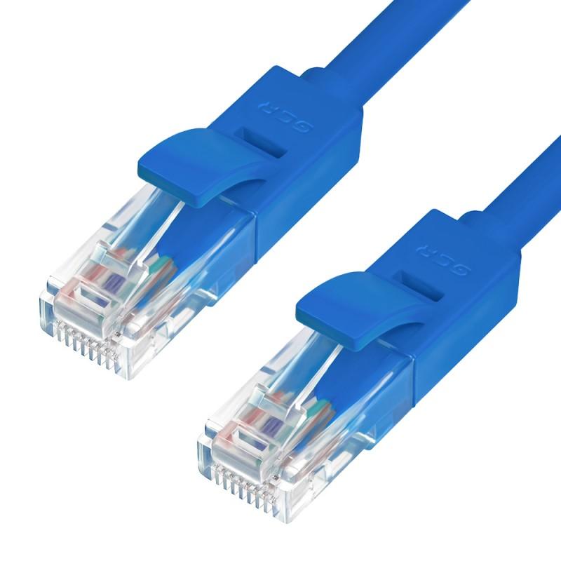 Сетевой кабель GCR Premium UTP 30AWG cat.6 RJ45 T568B 1m Blue GCR-LNC621-1.0m