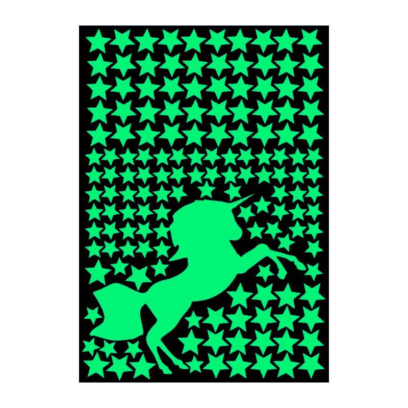 Наклейка Светящаяся наклейка Люми-Зуми Единорог А4 ННЕ-ЛЗ