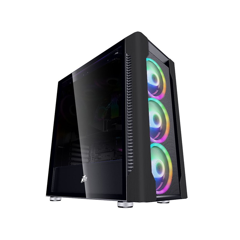 Корпус 1stPlayer DK DX E-ATX Tempered Glass Black без БП DX-BK-M1-PLUS