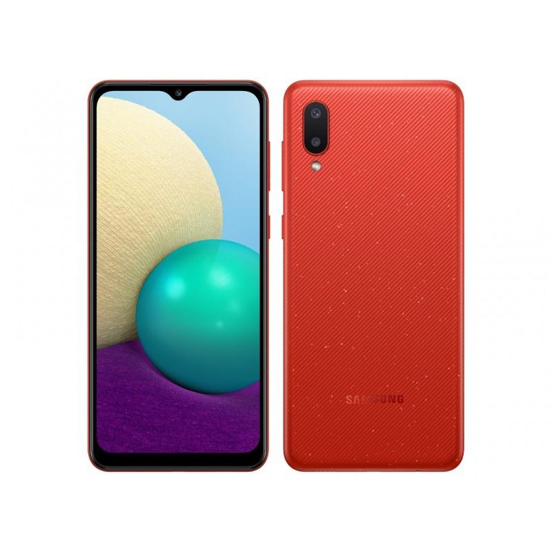 Сотовый телефон Samsung SM-A022GZ Galaxy A02 2/32Gb Red & Wireless Headphones Выгодный набор + серт. 200Р!!!