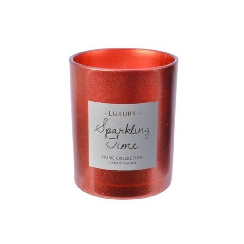 Ароматическая свеча Kaemingk Сверкающее время Снежный аромат 8.5cm Red Wood 212531/165391
