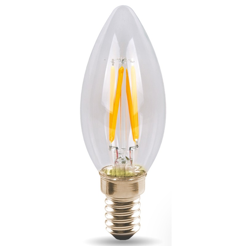 Лампочка Polaroid Filament C37 E14 4W 220V 6500K 470Lm 1CSC20004569