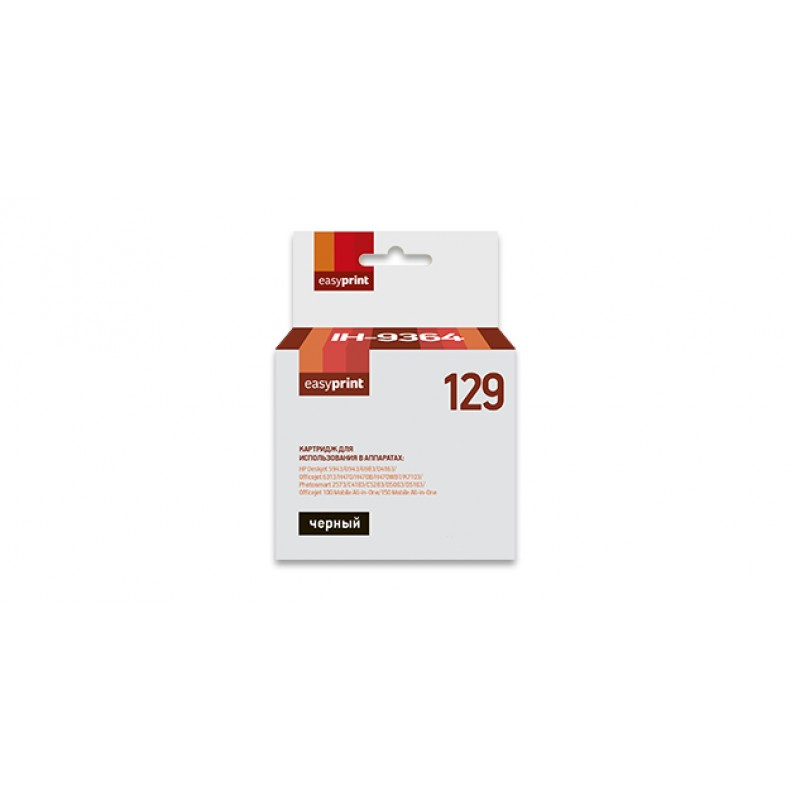 Картридж EasyPrint IH-9364 №129 Black для HP Deskjet 5943/6943/6983/D4163/Officejet 100/150/6313/H470/K7103/Photosmart 1000/1100/1115/1215/1218/1315/2573/C4183