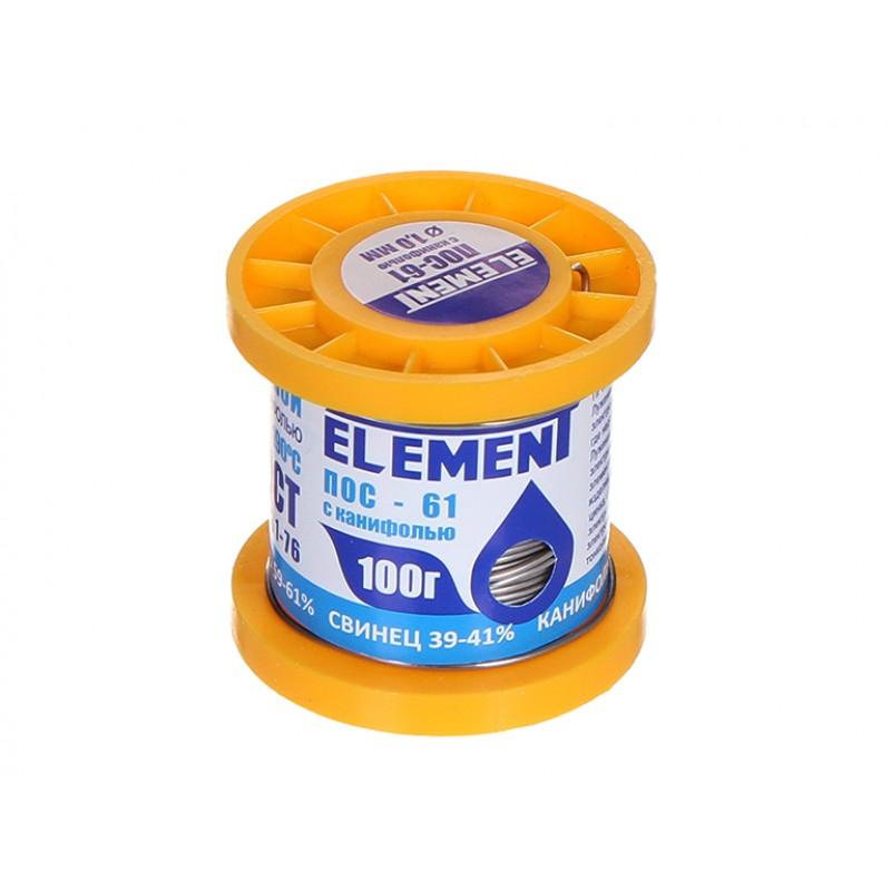 Припой с канифолью Element ПОС-61 100g 1mm 17463
