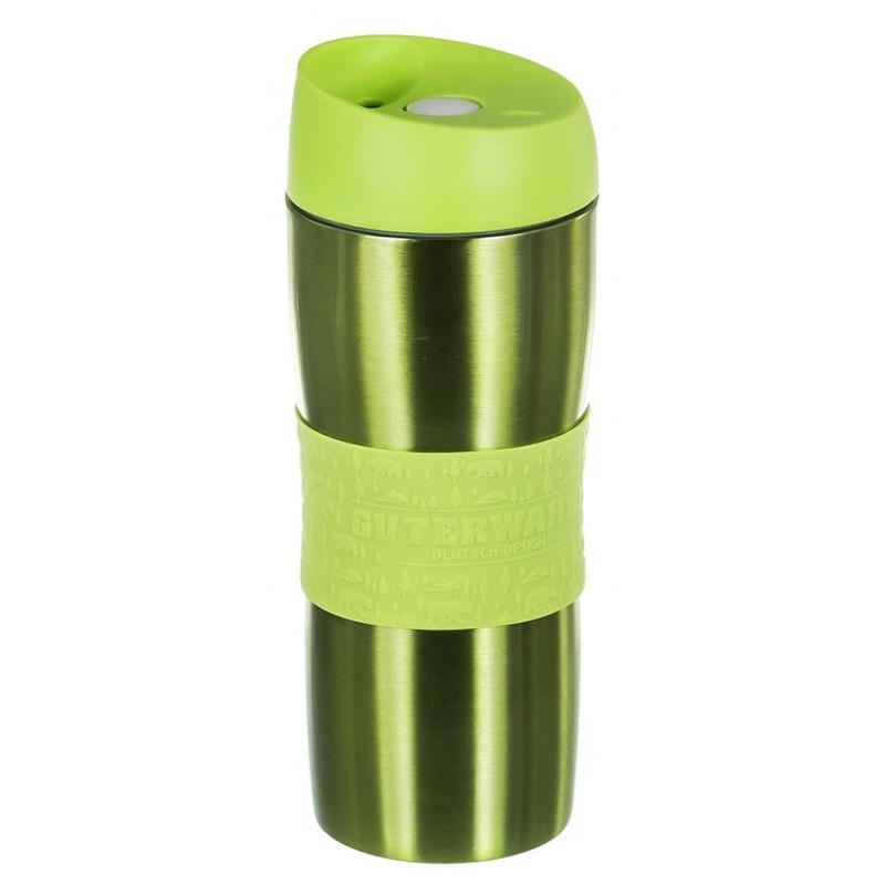 Термокружка Guterwahl 450ml Silver-Lime Green 120-26033