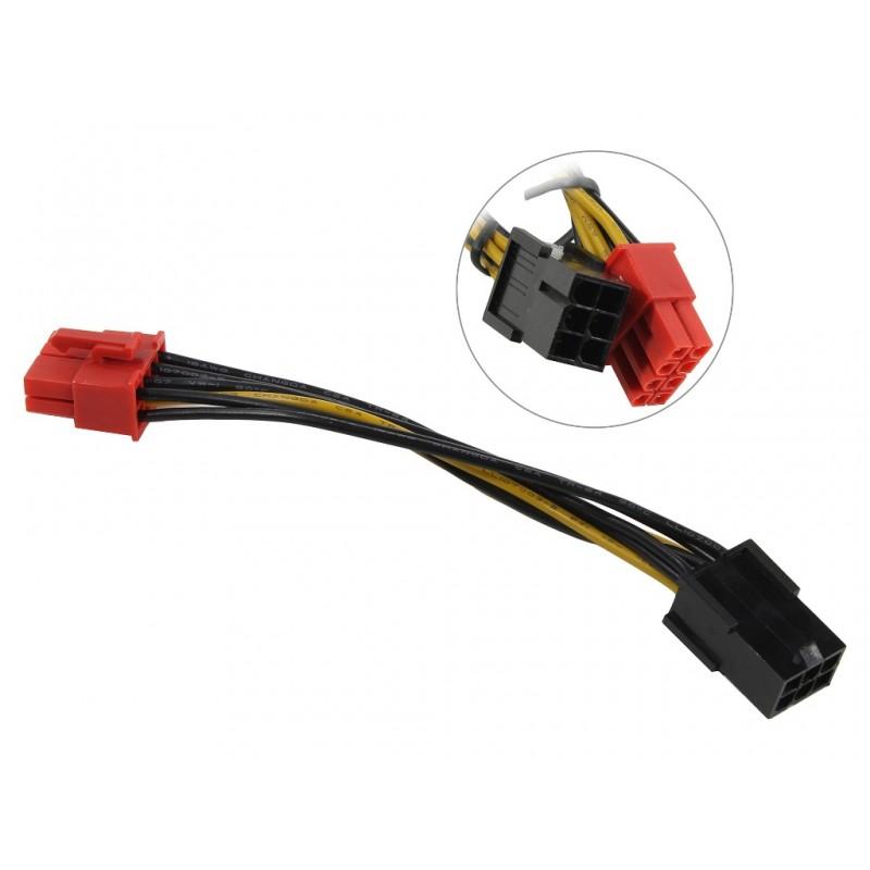 Аксессуар Кабель переходник Akasa PCIe 6pin to PCIe2.0 8pin AK-CB052