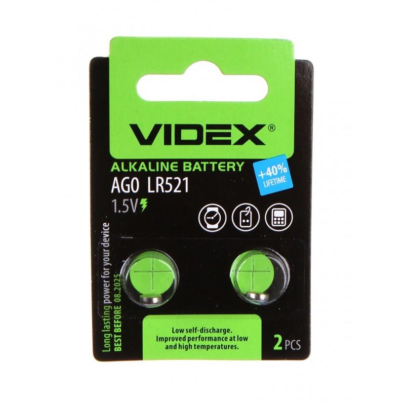 Батарейка LR521 - Videx AG0 2BL (2 штуки)