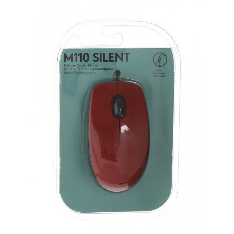 Мышь Logitech M110 Silent Red 910-005489