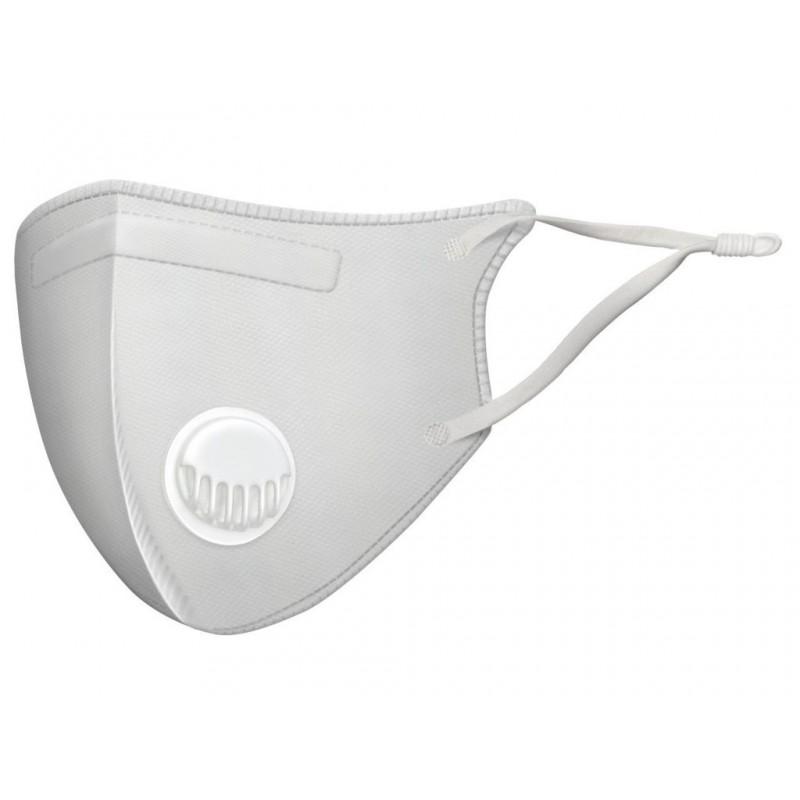 Защитная маска Барьерный Риф Japan SB более 99,9% защиты, анатомическая, трехслойная с клапаном White