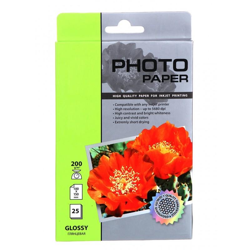 Фотобумага Cactus 10x15 200g/m2 глянцевая 25 листов CS-GA620025