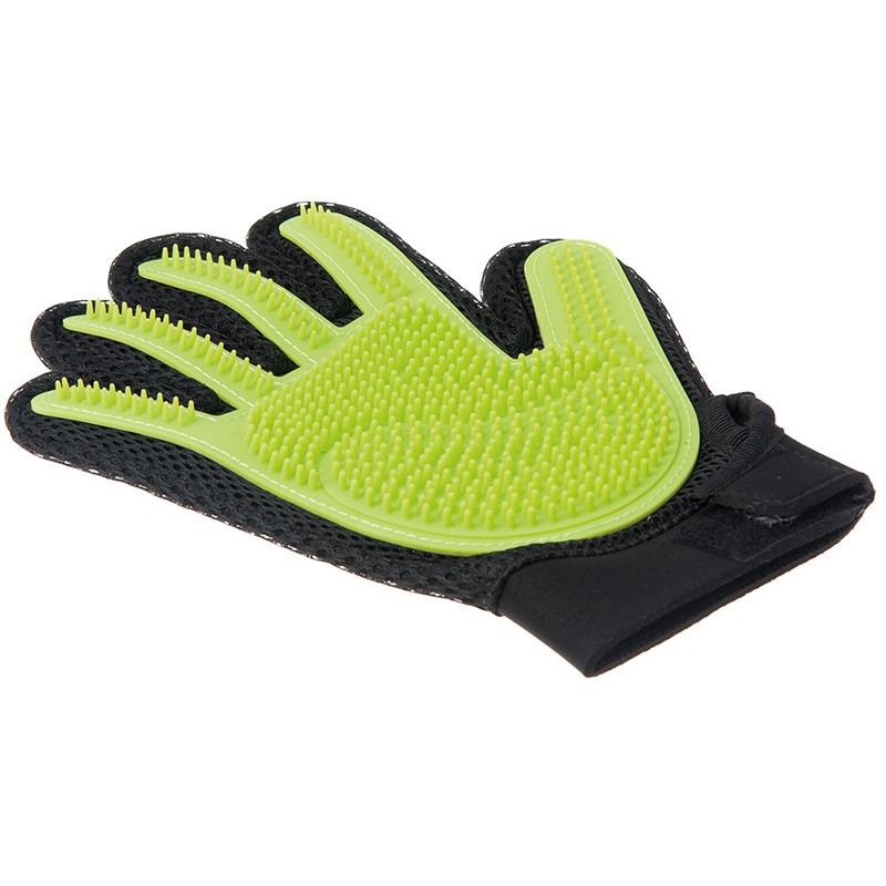 Перчатка силиконовая ZooOne С шипами средняя Light Green 3001