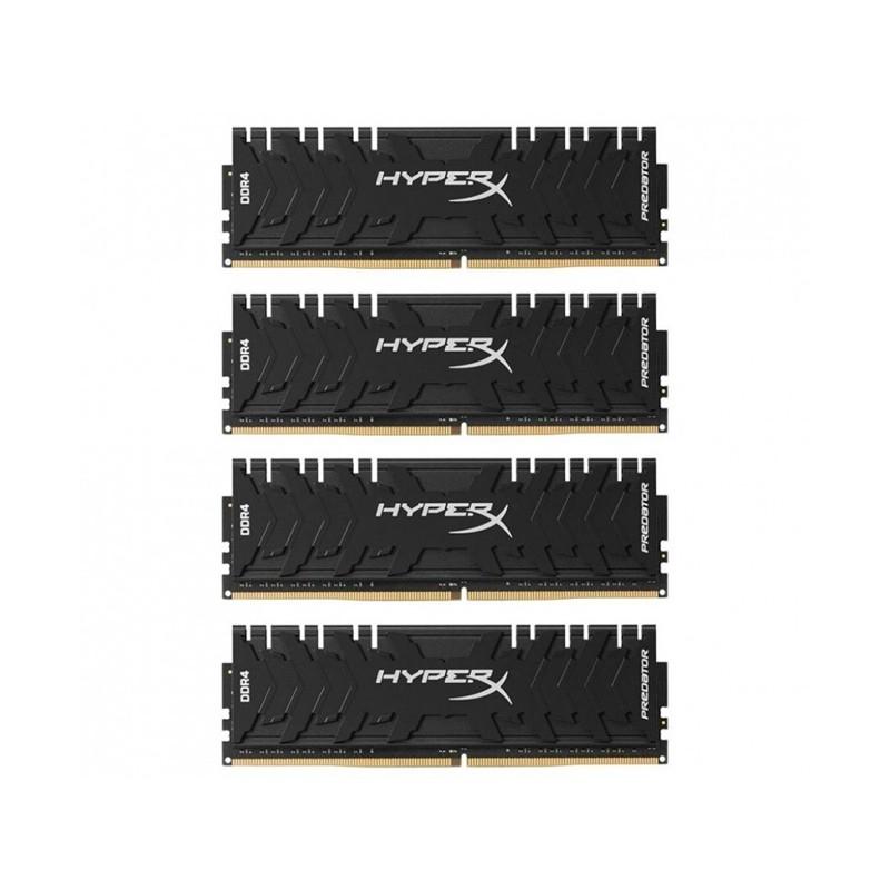 Модуль памяти HyperX Predator DDR4 DIMM 3000MHz PC4-24000 CL15 - 32Gb KIT (4x8Gb) HX430C15PB3K4/32