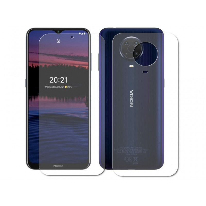 Гидрогелевая пленка LuxCase для Nokia G20 0.14mm Front and Back Matte 86458