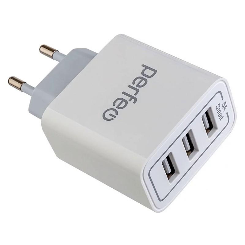 Зарядное устройство Perfeo USBx3 5А White I4647
