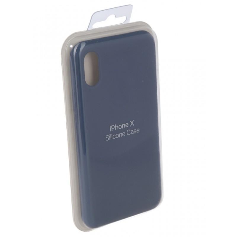 Чехол Innovation для APPLE iPhone X Silicone Blue 10630