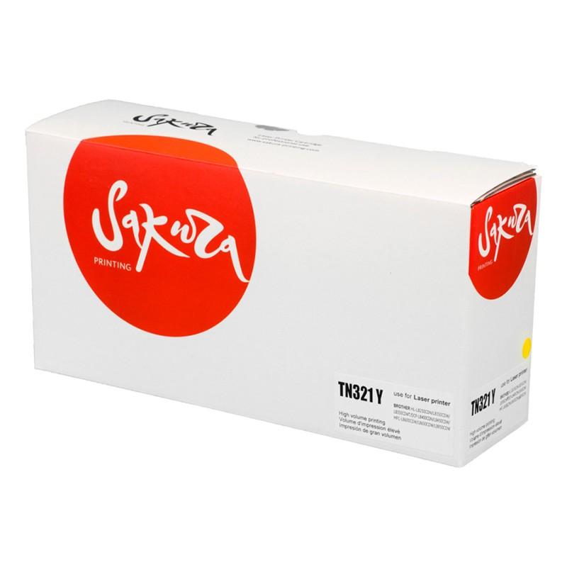 Картридж Sakura SATN321Y / TN321Y Yellow для Brother HL-8250/8350/DCP-8400/8450/MFC-8650