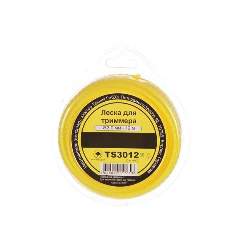 Леска для триммера Huter TS3012 3mm x 12m 71/2/3