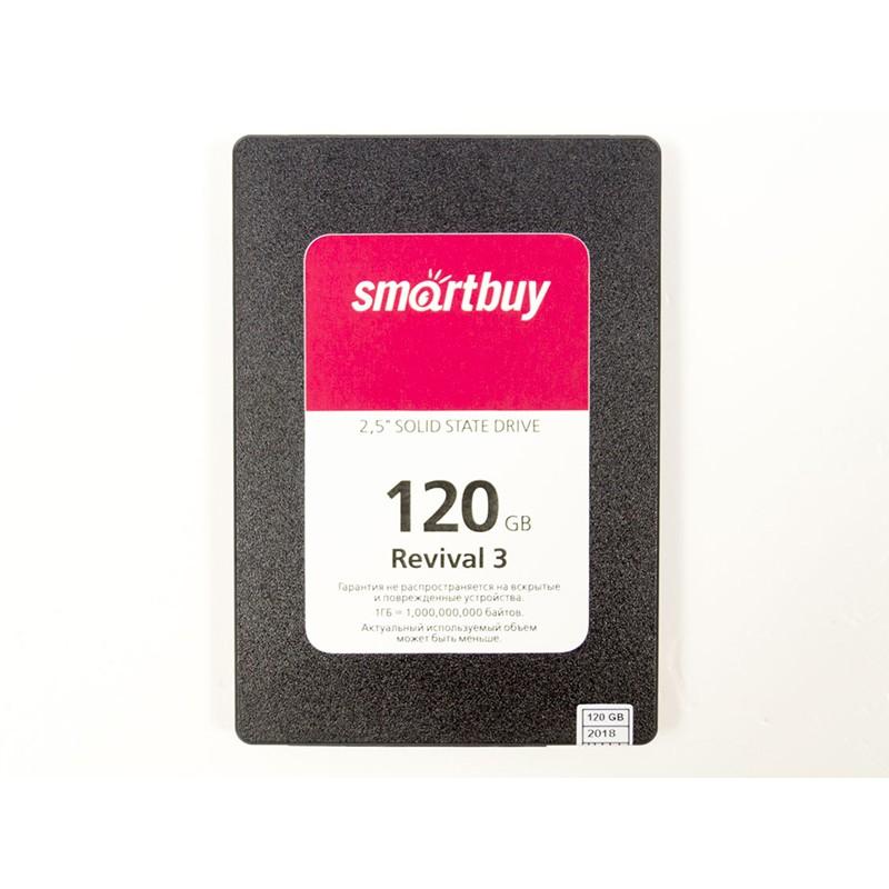 Твердотельный накопитель SmartBuy Revival 3 120Gb SB120GB-RVVL3-25SAT3 Выгодный набор + серт. 200Р!!!