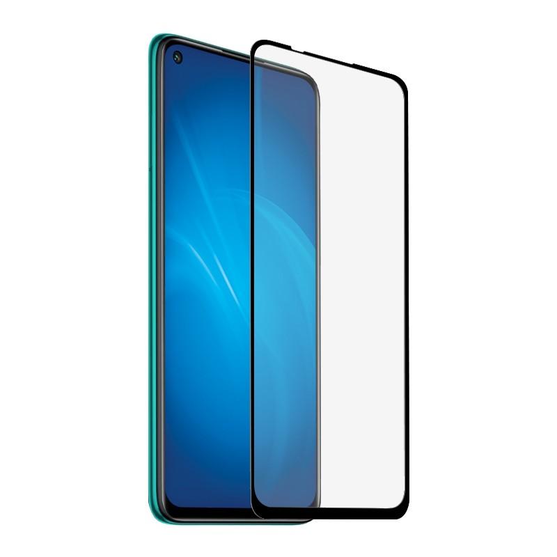 Закаленное стекло DF для Xiaomi Redmi Note 9 Full Screen Full Glue Black Frame xiColor-78