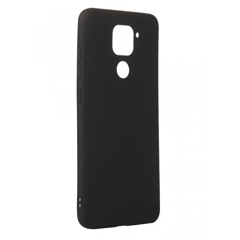Чехол с микрофиброй DF для Xiaomi Redmi Note 9 Silicone Black xiOriginal-11