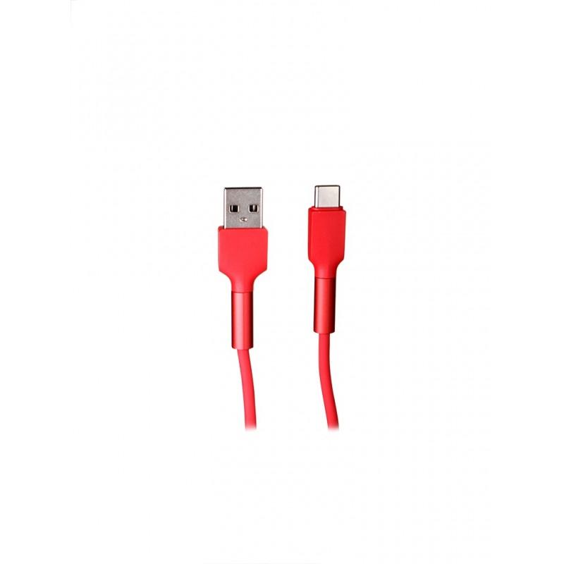 Аксессуар Baseus Silica Gel Cable USB - Type-C 2m Red CATGJ-A09