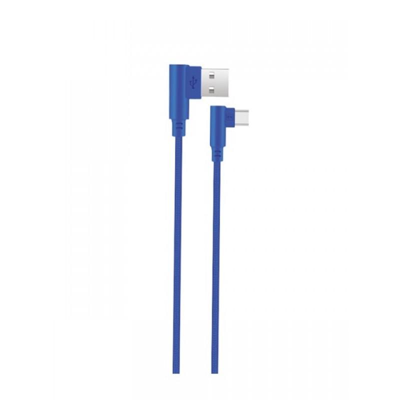 Аксессуар Exployd USB - USB Type-C 1m Blue EX-K-544
