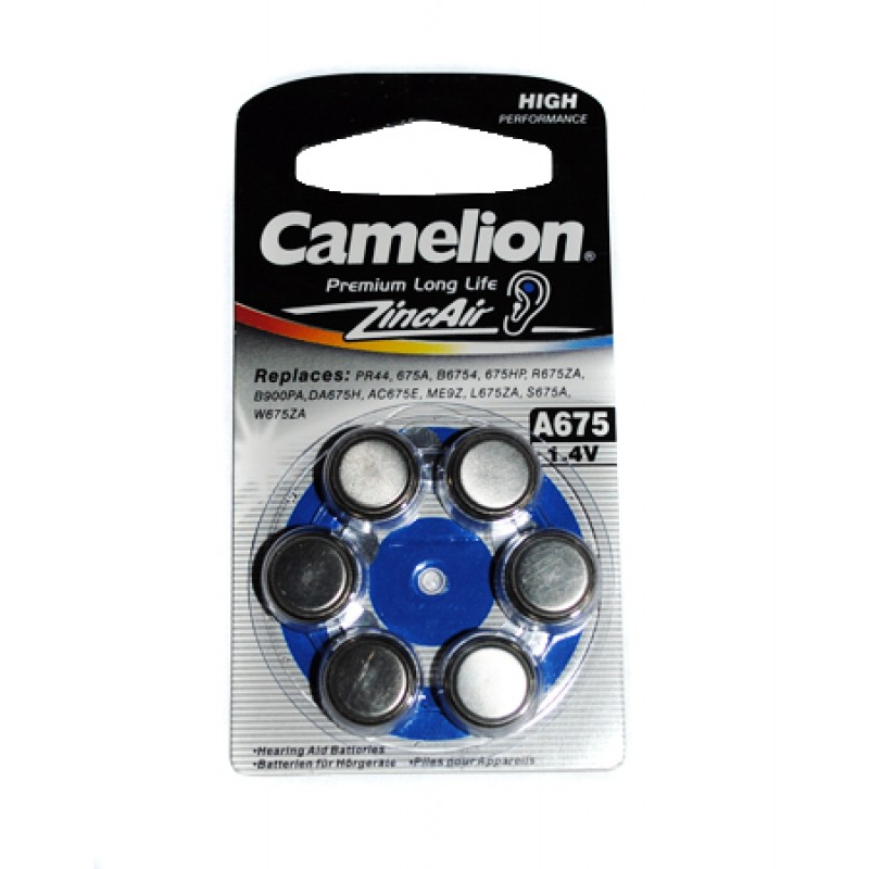 Аксессуар Батарейки Camelion ZA675 BL-6 / A675-BP6 1.4V 620mAh