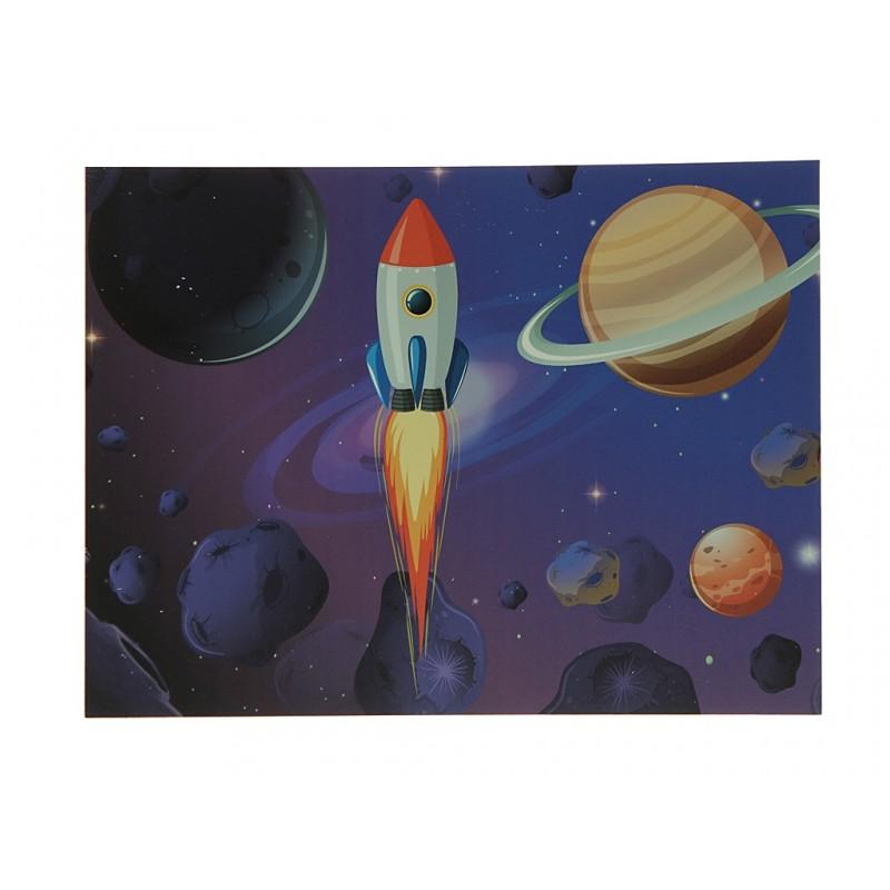 Наклейка Светящаяся картина Люми-Зуми Ракета, космос, планеты ЛЗ-РКПА3